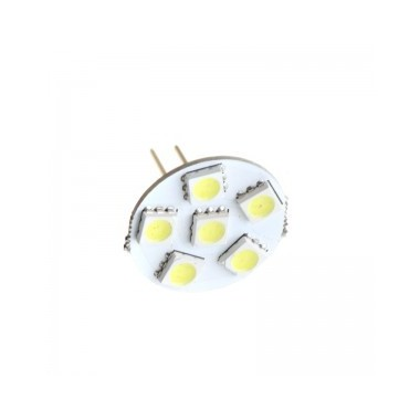 Pack 2 Lámparas Led G4 MR11 de 2W con  6 leds SMD 5050  Luz Fría 6000ºK