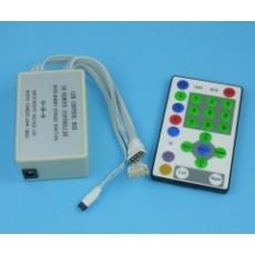 Controlador Tiras Led RGB Potente Dimmer 324W 12V 9 canales de 3A mando a distancia 24 botones IR