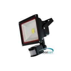 Foco Proyector Led 30w con sensor de movimiento, IP65 impermeable, exteriores, Luz Blanca