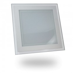 Downlight LED Cristal Diseño 18W +1300Lm Panel Cuadrado 20x20cm Luz Blanca 6000ºK