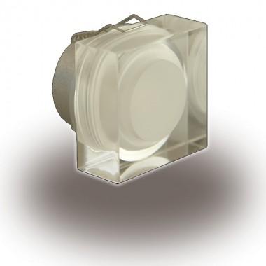 Downlight Led Cristal 1W Cuadrado Foco Empotrable Decoración Blanco Frío 6000ºK