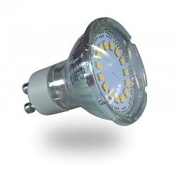 Dicroica Led GU10 5w 350Lm Cristal 120º Luz Fría 6000ºK Sustituye a 50W de halógena
