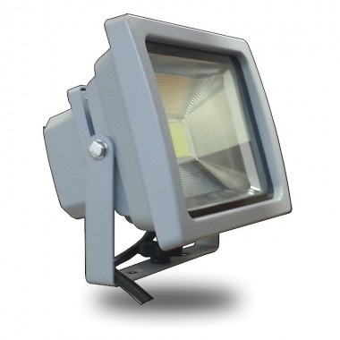 Foco Led COB PREMIUM 20w Luz Fria 6000ºK Gris Proyector Profesional Impermeable IP65,  Reflector Chip Bridgelux para exterior