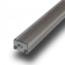 "Perfil en ""U"" Aluminio Plano Ancho 17 mm  para Tiras de Led. Longitud 1 m. Translúcido"