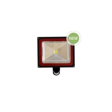 Foco Led PREMIUM 50w Profesional 3000ºK con sensor de movimiento, IP65 impermeable, exteriores, Luz Blanco Calido