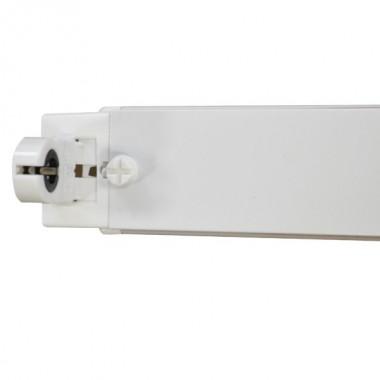 Portatubo para 1 Tubo LED T8 de 120 cm. con soporte y base G13 en material plástico