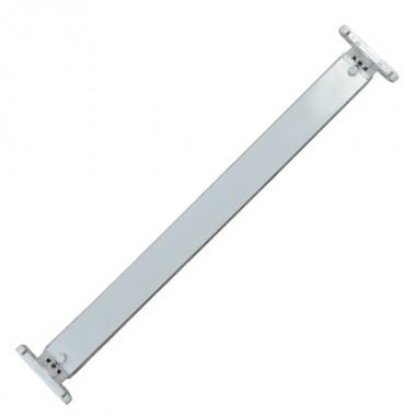 Portatubos para montaje de 2 Tubos LED T8 de 60 cm. con soporte y base G13 en material plástico