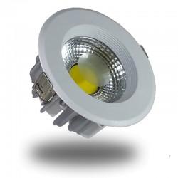 Downlight Led COB 10W 6000K Foco Redondo Aluminio, Luz Fria, Empotrable