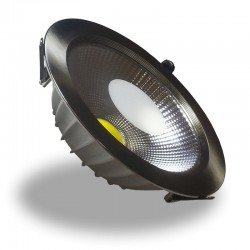Downlight Led COB 20W 6000K Foco Redondo Niquel Satinado, Luz Fria, Empotrable