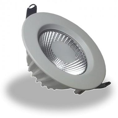 Downlight Led COB 5W 6000K Foco Redondo Aluminio Blanco, Luz Fria, Empotrable