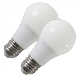 Pack 2 Bombillas LED 7w Luz Calida Angulo Luz 270º Rosca Gruesa E27, 470 Lumens, Led Epistar SMD5630