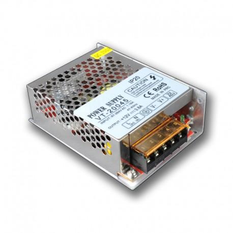 Fuente Alimentación, Transformador, Alimentador 45w 12v 3.8A uso interior IP20