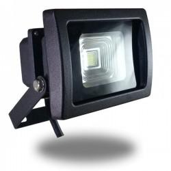 Foco Led COB PREMIUM 10w Luz Fria 6000ºK Proyector Profesional Negro Impermeable IP65, Chip Bridgelux uso exterior