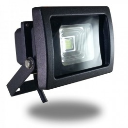 Foco Led COB PREMIUM 10w Luz Fria 6000ºK Proyector Profesional Impermeable IP65, Reflector Chip Bridgelux para exterior GRIS