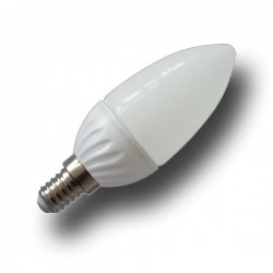 Bombilla LED Vela 4W 320 Lumens Luz Calida casquillo fino E14, Led SMD Epistar