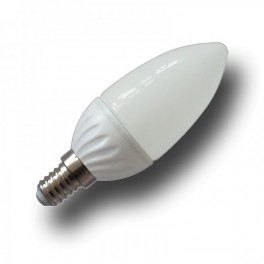Bombilla LED 3w casquillo fino E14 forma vela, Led Epistar Luz Cálida 3500K