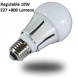 Bombillas LED Samsung 10w REGULABLE Luz Calida, +800 Lumens, Rosca Gruesa E27