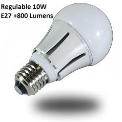 Bombillas LED Samsung 10w REGULABLE Luz Calida, +800 Lumens, Rosca Gruesa E27