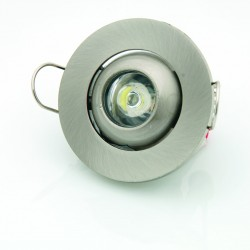 Downlight Led 1W 3300K Foco Ajustable Redondo Decoración Luz Blanco Cálido
