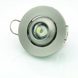 Downlight Led 1W 3300K Foco Ajustable Redondo Decoración Luz Blanco Cálido