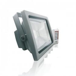 Proyector Led Cob PREMIUM 30w RGB + Control Remoto RF radio frecuencia, +1800 Lumens IP65 impermeable, uso exterior