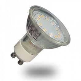 Bombilla LED Dicroica 3w Cristal 120º Lámpara 6000ºK Casquillo GU10 (220V) Luz Fria SMD5630 Epistar