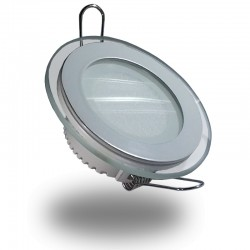 Downlight LED Cristal Diseño 6W 510Lm Panel Redondo Ultrafino Luz Cálida 3000ºK