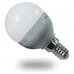 Bombilla LED Esferica 6w Luz Fria 470Lm Globo casquillo fino E14 modelo P45