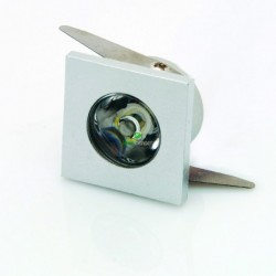 Downlight Led Mini 1W BLANCO CUADRADO Luz Cálida 90Lm