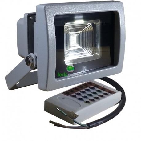 Proyector Led PREMIUM 10w Bridgelux RGB 600Lm con mando RF radio control IP65 Uso Exterior