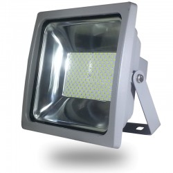 PROYECTOR LED 100W Alta Potencia 8100Lm SMD Luz Neutra 4500ºK IP65 GRIS