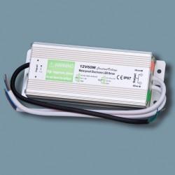 Fuente Alimentación, Transformador, Alimentador 60w 12v 5A metal exteriores IP65