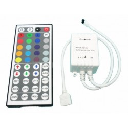 Controlador Luz Tira Led RGB Dimmer con mando a distancia 44 botones IR