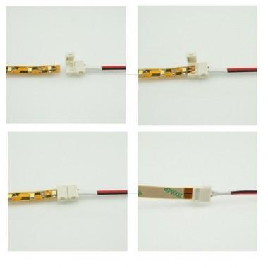 Conector Rígido unión tiras Led monocolor SMD3528 Pin Click