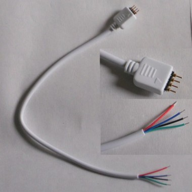 Conector flexible unión tiras Led monocolor SMD3528 4Pin Macho