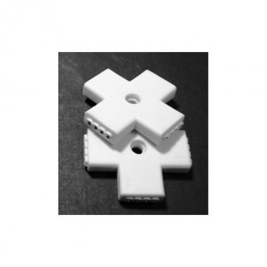 Conector rígido unión tiras Led monocolor SMD3528 en cruz forma de X