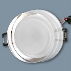 Downlight Led Cristal 1W Foco Empotrable Redondo Decoración Blanco Puro 6000ºK