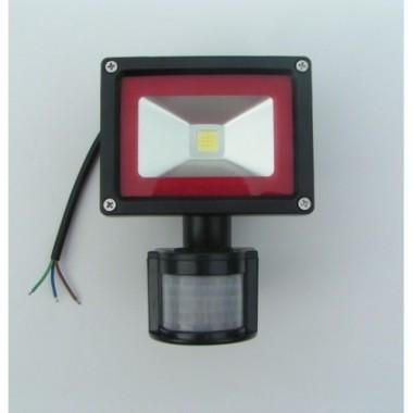 Foco Proyector Led 10w con sensor de movimiento, IP65 impermeable, exteriores, Luz Cálida