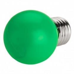 Bombilla LED 1w VERDE 80 Lm Rosca Gruesa E27 (220V) Decorativa