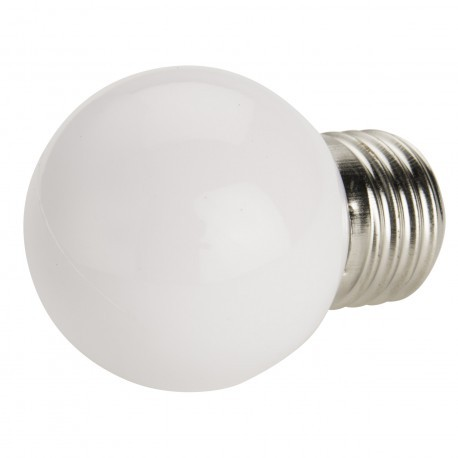 Bombilla LED 1w BLANCA 80 Lm Rosca Gruesa E27 (220V) Decorativa