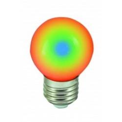 Bombilla LED 1w RGB Multicolor 80 Lm Rosca Gruesa E27 (220V) Decorativa