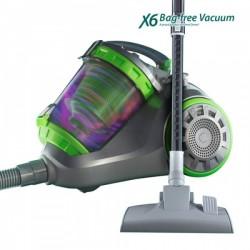 Aspirador sin bolsa X6mop más potente, rápido y eficaz que las aspiradoras convencionales.