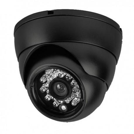 Cámara Video Vigilancia Domo 3,6mm 800L IR NEGRA Serie ECO Uso Doméstico y Negocio
