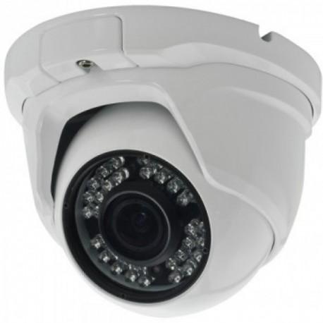 Cámara Vigilancia Domo Antivandálica  3,6mm 1000LIP66 IR BLANCA Uso Doméstico y Negocio. Para Interior o Exterior.