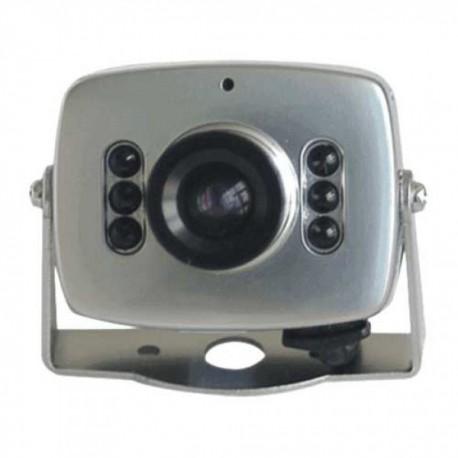 Cámara Vigilancia Miniatura 380 Líneas con Micrófono . Incluye clip para alimentación por pila de 9 V.