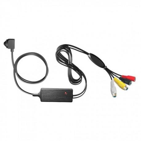 Cámara Video Camuflaje Ultraminiatura 420Líneas, 3.6mm cableada  alta calidad, micrófono incorporado.