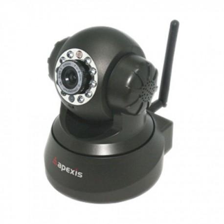 Cámara Video Vigilancia IP WIFI Ethernet 3.6mm con movimiento remoto NEGRA