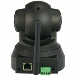 Cámara Video Vigilancia IP WIFI Ethernet 3.6mm con movimiento remoto NEGRA