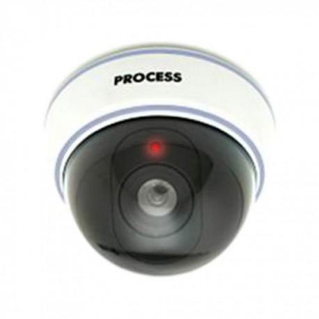 Cámara Falsa Video Vigilancia simulada para uso Interior o Exterior con led