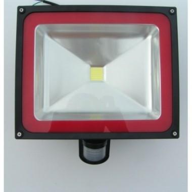 Foco Proyector Led 50w con sensor de movimiento, IP65 impermeable, exteriores, Luz Blanca